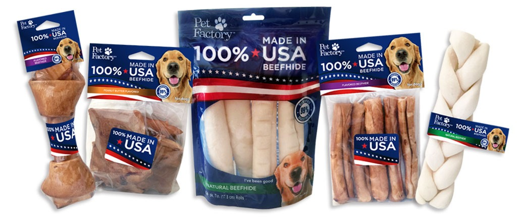 usa chews pet factory beefhide digest easy rawhide tasty dog american food chew quality treat