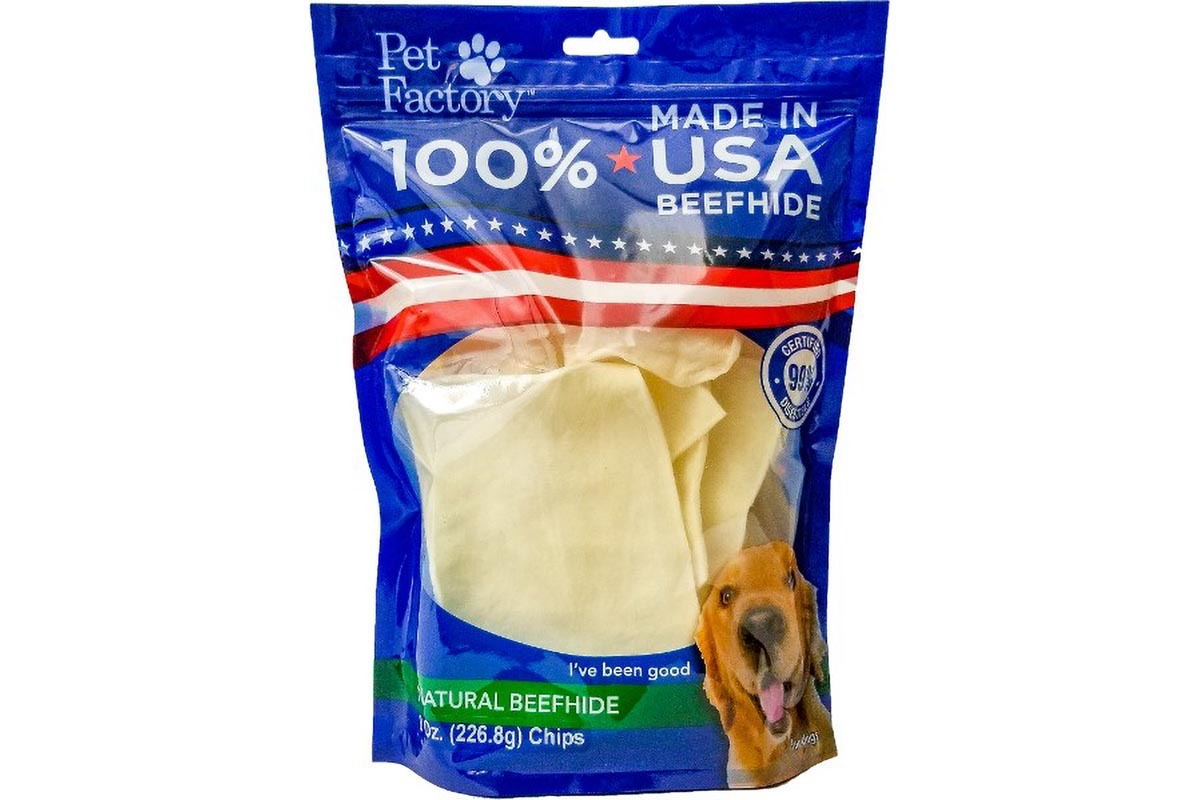 100 % USA Beefhide Chips Medium Value Pack _ Front of bag