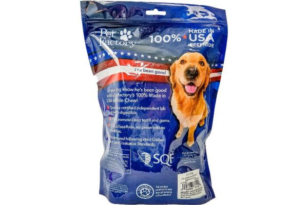 100% Beefhide Assorted Beef and Chicken Chips 8oz. Medium Bag_ back panel