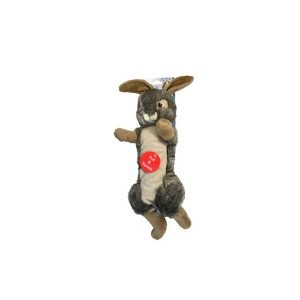 Plush Rabbit Pull and Squeak Dog toy
