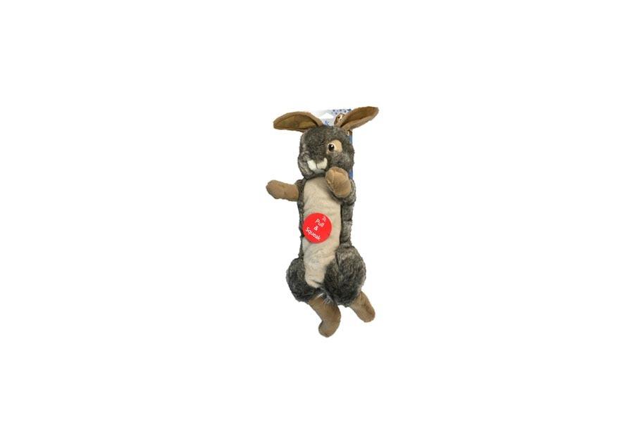 Plush Rabbit Pull and Squeak Dog toy