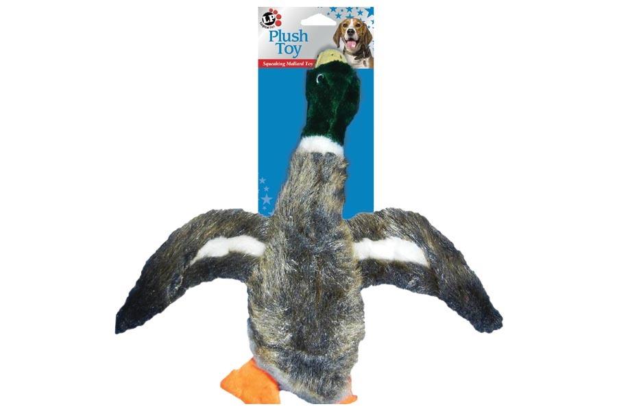 Plush Mallard Duck Dog Toy