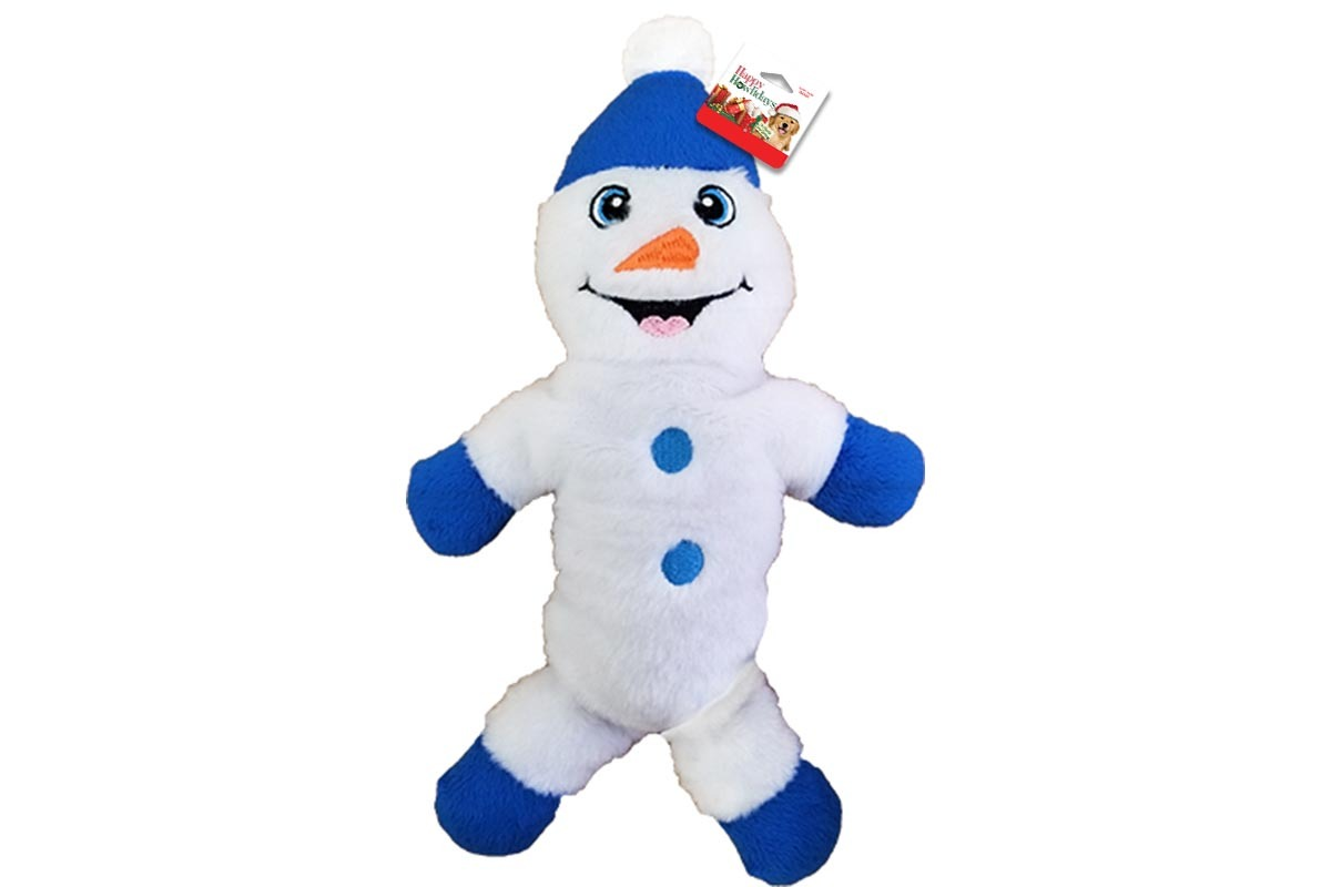 plush snowman holiday themed dog toy