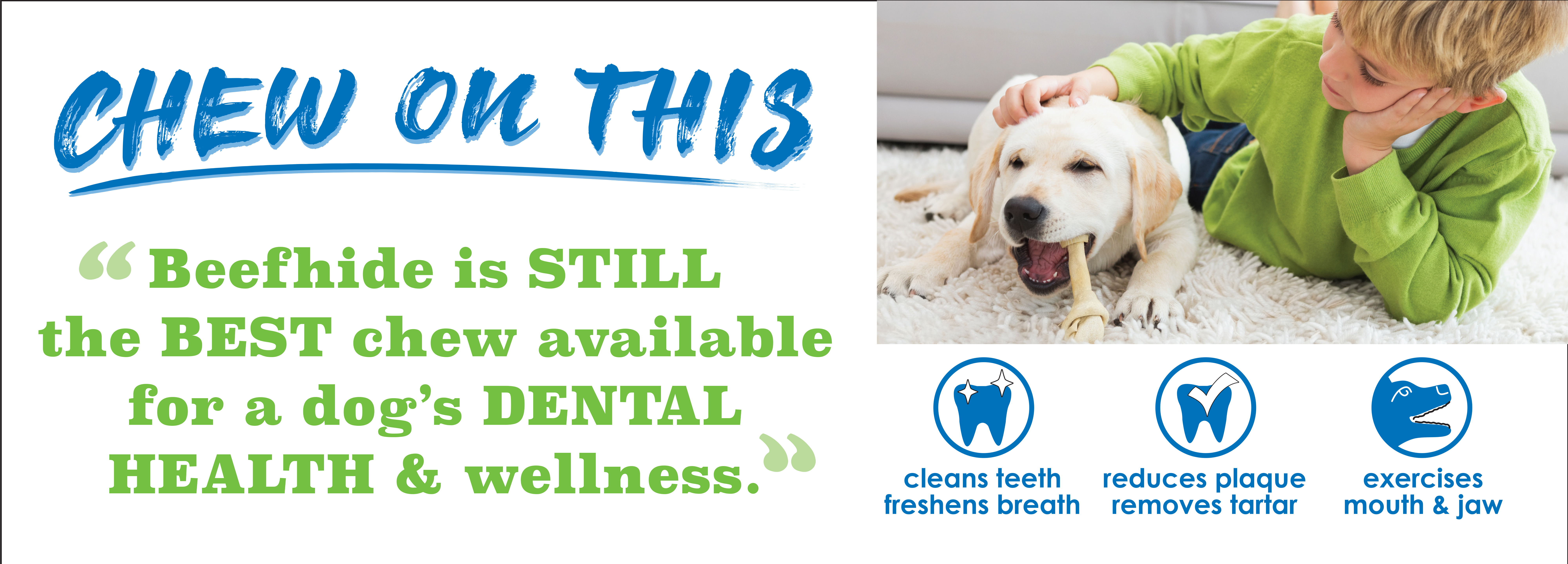 Did You Know_ Collagen Chews are good for dog's dental health