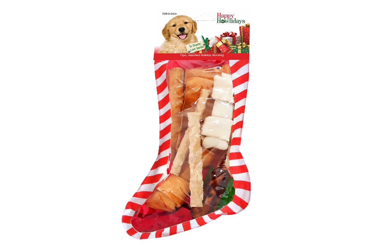 Pet Factory Holiday Beefhide Stocking Assortment