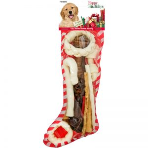 Holiday Beefhide Stocking Assorted 90453