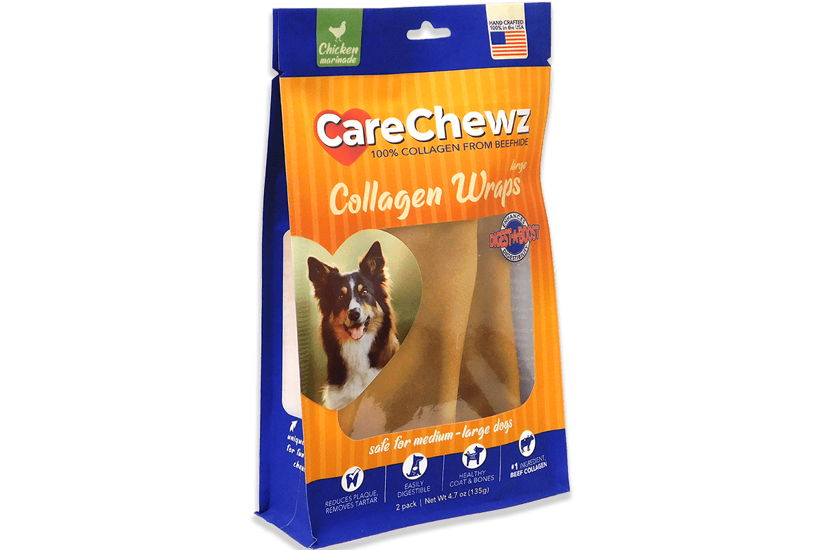 Care Chewz Collagen Wraps Chicken Large