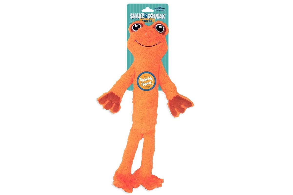 Shake and Squeak Frogz Orange Orange