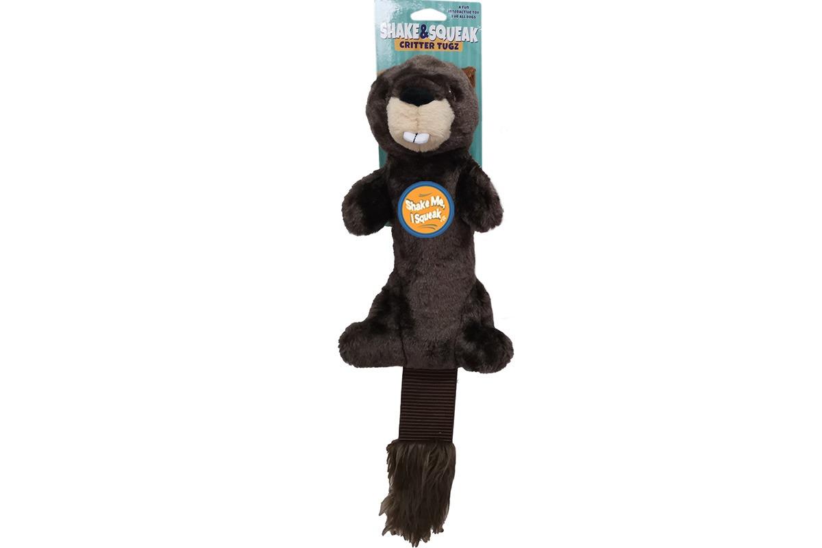 Shake and Squeak Critter Tugz Beaver