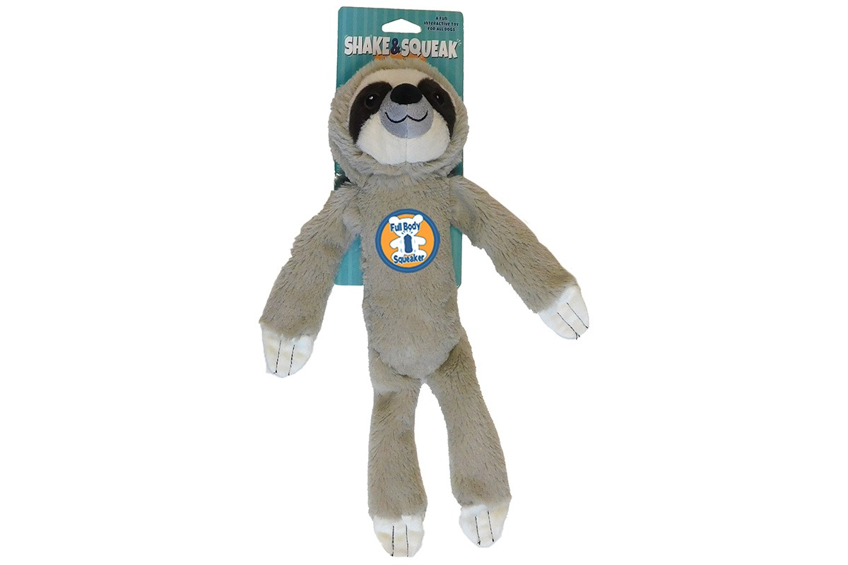 Shake and Squeak Sloth Grey