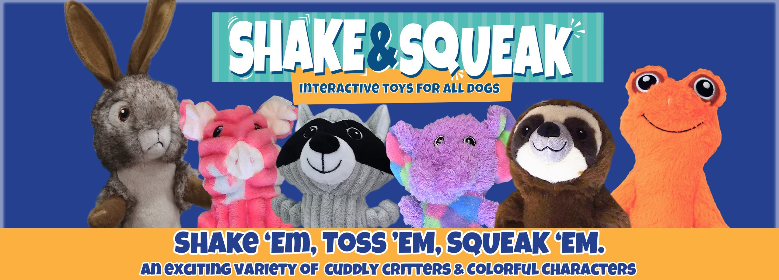 Logical Pet Shake and Squeak Premium Plush Toys